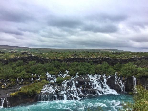 hraunfossar_waterfall